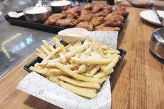 Bonchon fries with cheese @ Bonchon chicken at Esplanade Ratchada, Bangkok, Thailand