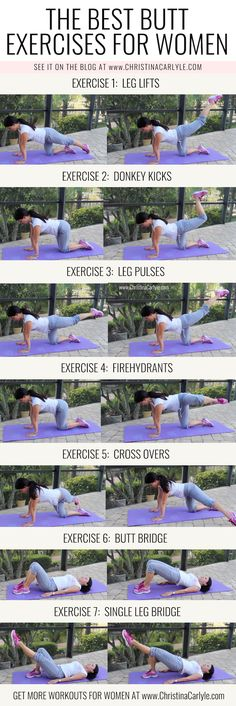 The Best Booty Building Butt Exercises that Arent Squats - Women Jeans - Ideas of Women Jeans - The Best Butt Exercises for women from Christina Carlyle christinacarlyle. Top Plans for Preparing For Butt Workout Fitness Workouts, Training Fitness, Fitness Motivation, Health Fitness, Butt Workouts, Yoga Fitness, Fitness Quotes, Glute Exercises, Squat Workout