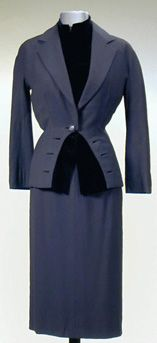 Cocktail Suit | House of Paquin | French; Paris | late 1940s | velvet | Doyle Auction House | May 3, 2001/Lot 889