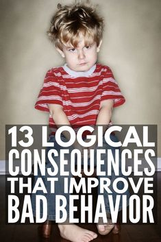 13 Logical Consequences that Actually Work | Enforcing logical consequences in the classroom and at home is a fabulous way for teachers to encourage good classroom behavior and parents to get kids to behave without yelling, but knowing HOW to use logical consequences (and how to implement them successfully) can be tricky. We're sharing our best positive parenting tips and 13 logical consequences that actually work!