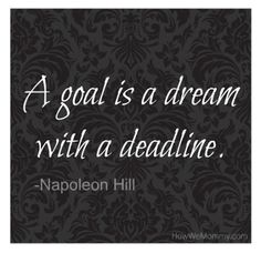 One Word Wednesday.  Goal