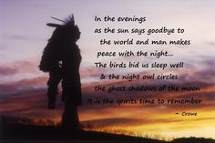 Native American Good Night Prayer Comment by jilly ov admin on