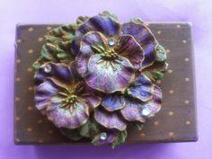 Handmade metal rusty pansy box by AnnasHaberdashery on Etsy