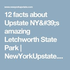 12 facts about Upstate NY's amazing Letchworth State Park Letchworth State Park, Upstate New York, Rv Travel, Road Trip Usa, Niagara Falls, State Parks, Facts, Amazing, Trips