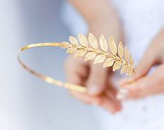 Little Leaves  A Silver Leaf Headband