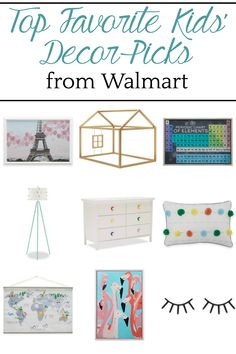 Why secondhand dressers are not always the best solution + top picks from the Flower Kids home decor line from Walmart. Bless'er House #kidsrooms #homedecor