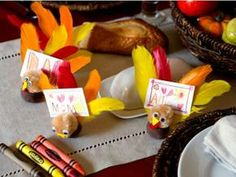Thanksgiving Turkeys #craft #project #kids #fun #DIY