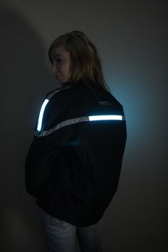 GlowRider Jacket all lit up! #AdaptivTech #GlowRider