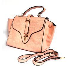 CROC PEACH HANDBAG SB272 for more details visit www.streetbazaar.in #croc #print #peach #style #glamour #handbag
