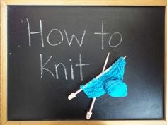 How to Knit...I always forget how to start. (lol)