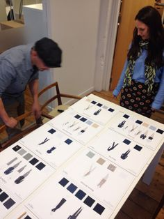 Our MD Jane reviewing the designs board with our senior designer