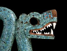 Khan Academy article on the imagery of the double serpent. Double-headed serpent, century C., turquoise mosaic, Mexica (Aztec) x cm (British Museum), © Trustees of the British Museum Moctezuma Ii, Ancient History, Art History, Art Alevel, Aztec Art, Mesoamerican, Arte Popular, Ancient Artifacts, Ancient Civilizations
