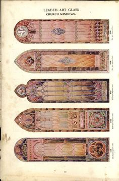 Complete catalogue 1905 - #Gothic Revival stained glass windows to order