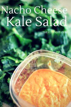 Cheesy nacho kale salad, healthy, paleo, vegan