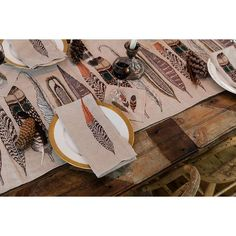 Coral & Tusk - Feathers Table Runner