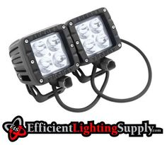 Our 3 Inch 40 Watt LED Cube lights offer high intensity lighting in a small compact housing. Consuming 40w (  4 - 10w Cree XMK LEDS ) with a current draw of 1.5A@12V these are perfect for any application where additional lighting is required. Efficient Lighting Supply LLC Includes all mounting hardware as well as free lifetime technical support and a 2 year limited warranty with all Off Road Led Lighting Products.