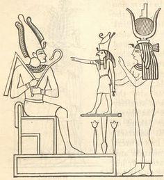"Egyptian Triad. Isis has the Apis crown on - ""Pop Culture Keys: Egyptian God Triads And ""Superhero Families"""""