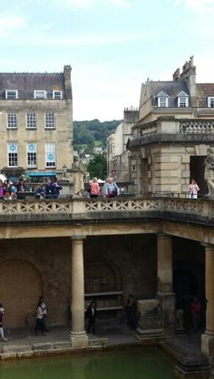 Roman Baths in the city of Bath, England. #romanbaths #uk #cityofbath