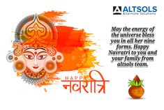 May the energy of the universe bless you in all her nine forms. Happy Navratri to you and your family from altsols team. Online Marketing Services, Seo Services, Internet Marketing, Happy Navratri, Software Development, Digital Marketing, Universe, Online Marketing, Cosmos