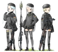 Safebooru is a anime and manga picture search engine, images are being updated hourly. Anime Military, Military Girl, Comic Pictures, Manga Pictures, Guerra Anime, Anime Chibi, Anime Art, Military Archives, Character Art