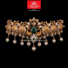 Stunning gold vanki designs by Kameswari Jewellers. Shop online from one of the foremost South India's traditional jewellers. Jewelry Design Earrings, Gold Earrings Designs, Gold Jewellery Design, Necklace Designs, Pendant Jewelry, Jewelry Sets, Gold Jewelry, Vanki Designs Jewellery, Buy Gold Jewellery Online