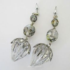 1920's Gatsby Flapper Inspired Silver Plated Christmas Acorn Earrings by Missie77art Jewellery on ebay