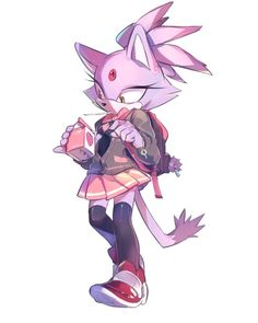"""Blaze goes to High School.She's so cute.""  Blaze:""W-who're you?!Stop telling me that i'm cute!!!"""