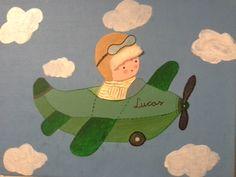Lucas en avión