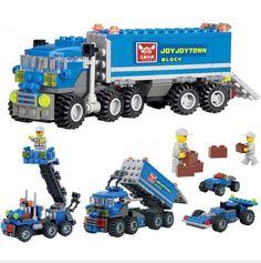 Hot 163 cái trẻ em món quà Giáng Giác Ngộ đồ chơi giáo dục Dumper Truck DIY đồ chơi khối xây dựng, đồ chơi trẻ em playmobile