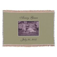 This soft, Add-Your-Own Photo Throw Blanket makes a great gift for parents, grandparents, etc.! Can be personalized to say whatever you like! Can be made in many colors too!