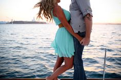 Breezy Sailboat Engagement Session in California | Images by Melissa McClure Photography | Via Modernly Wed | 05