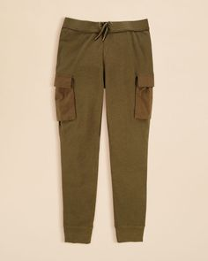 Ralph Lauren Girls' Waffle Knit Cargo Pants - Sizes S-xl