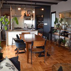 32 ideas for kitchen appliances cupboard clutter Industrial Kitchen Design, Kitchen Interior, Simple Living Room, My Living Room, White Interior Design, Interior Decorating, 70s Decor, Home Decor, Studio Kitchen