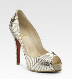Love these Art Deco inspired Christian Louboutins