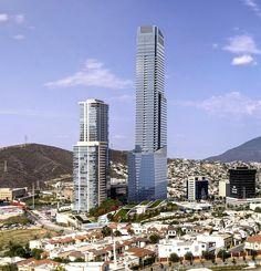 Torre KOI, con 280 mts. de altura es actualmente el edificio mas alto de Mexico, ubicado en la zona de Valle oriente en Monterrey. La torre es de usos mixtos.