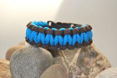 Paracord - Armband braun - blau SeptemberErde von DaiSign auf DaWanda.com