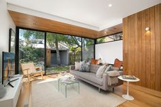 Large living & dining area flows to garden