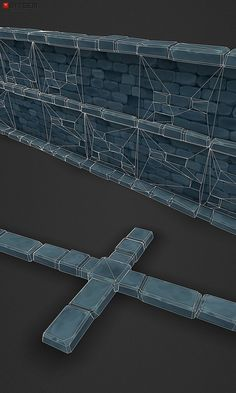 Low Poly Dungeon Wall Segment