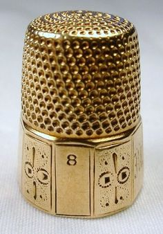 1800s Fine Early Victorian American 14k Yellow Gold Sewing Thimble | eBay /249.99