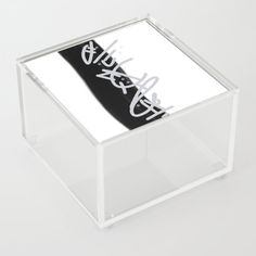 Freehand - Grey Acrylic Box by laec | Society6 Good Advice For Life, Life Advice, Jewelry Gifts, Unique Jewelry, Storage Places, Acrylic Box, Decorative Boxes, Store, Grey