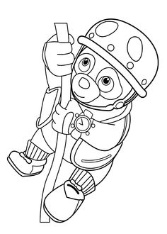 Super Why Coloring Page Super Why Building a Snowman Snowman