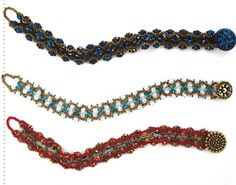 Schemas for three bracelets from Russian site. Needs translation but better than average schemas. #seed #bead #tutorial
