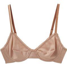 Araks Sophia Bra ($98) ❤ liked on Polyvore featuring intimates, bras, underwear, lingerie, tops, araks, underwire bras, lingerie bras, black lingerie and nude bra
