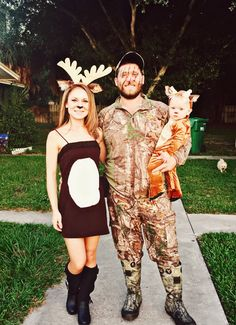 Deer hunting/Camo Halloween family costumes