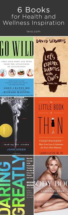 6 Books for Health & Wellness! www.levo.com #LevoReads