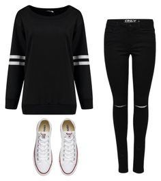 """""""Sweatshirt"""" by danielle09-1 on Polyvore featuring Converse"""