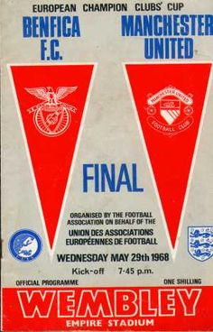 The meeting of Benfica and an English side in Chelsea in the Europa League final will for many conjure up memories of the 1968 European Cup final at Wembley, when Manchester United became the first English side to conquer Europe. Pure Football, Chelsea Football, Retro Football, Vintage Football, Football Pics, European Football, Football Team, Manchester Fc, Manchester United Football