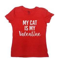 Valentines Day Shirt Cat Lover Gift Ideas For Her Kitty T