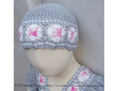 GRANNY SQUARE SUMMER BEANIE HAT