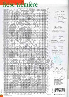 "Photo from album ""Crochet Creations Hors-serie 24 Rideaux"" on Yandex. Crochet Solo, Cross Stitch Patterns, Crochet Patterns, Fillet Crochet, Crochet Doilies, Views Album, Bullet Journal, Yandex Disk, Tutorials"
